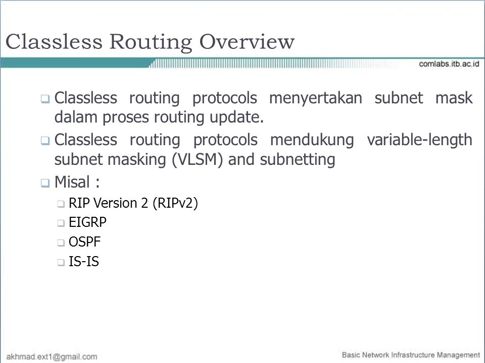 Classless Routing Overview
