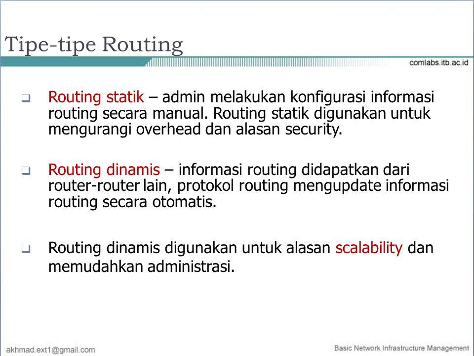 Tipe-tipe Routing