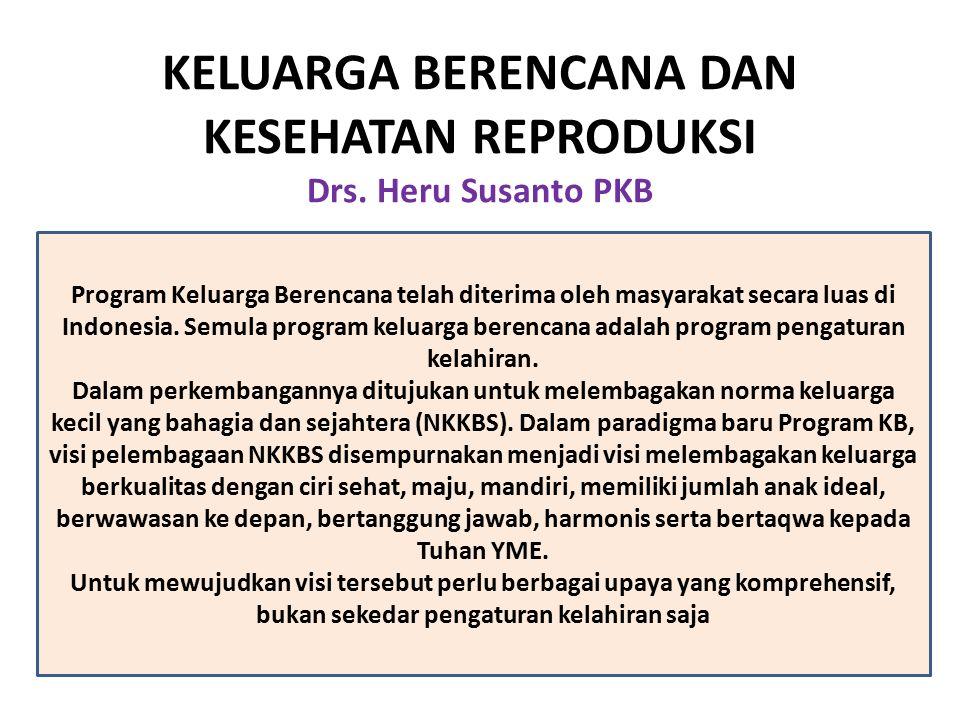 KELUARGA BERENCANA DAN KESEHATAN REPRODUKSI Drs. Heru Susanto PKB