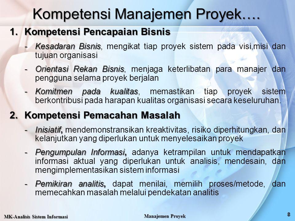 Kompetensi Manajemen Proyek….