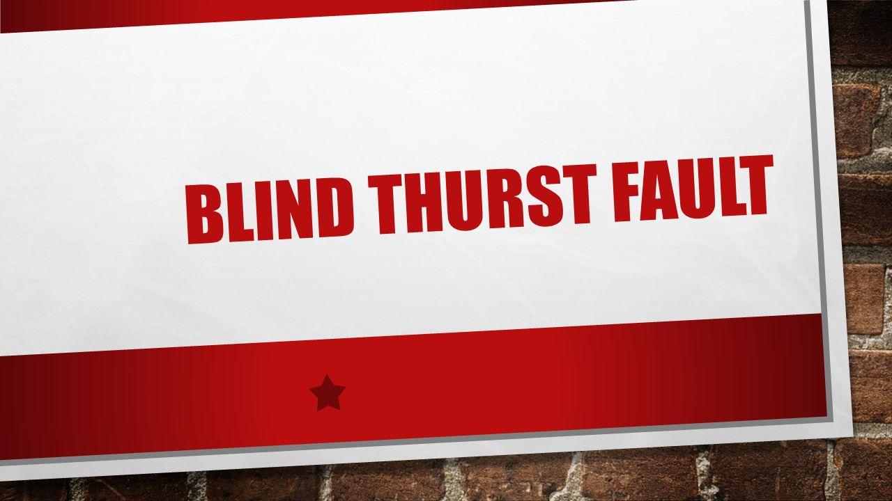 Blind Thurst Fault