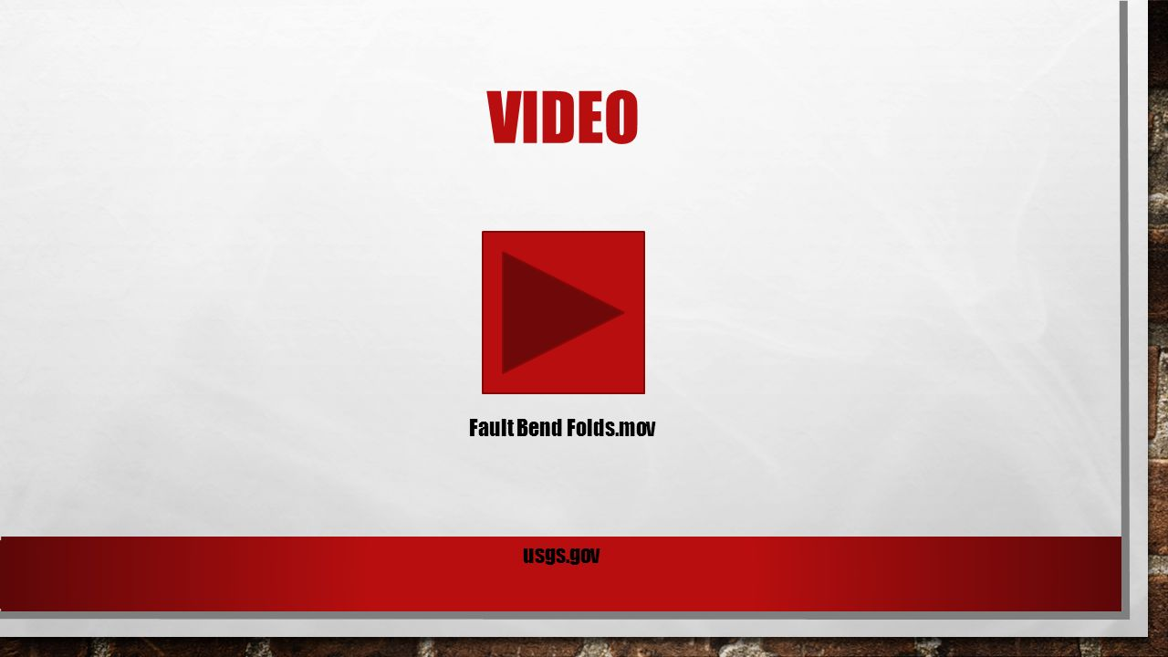 VIDEO Fault Bend Folds.mov usgs.gov