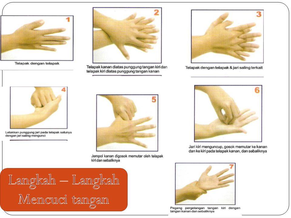 Langkah – Langkah Mencuci tangan