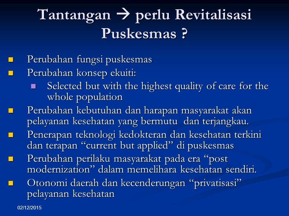 Tantangan  perlu Revitalisasi Puskesmas