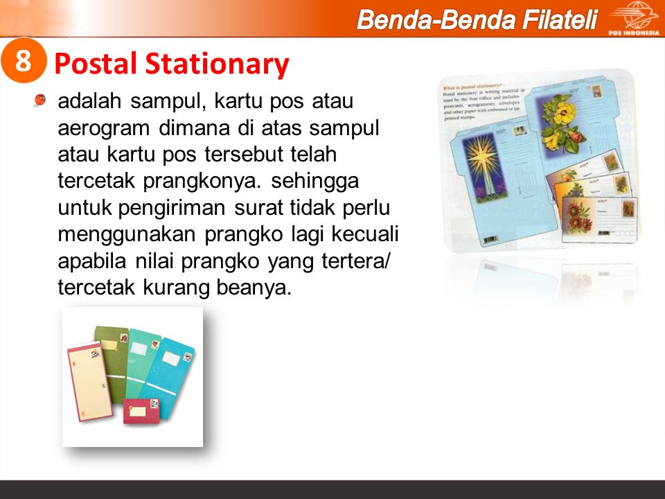 Postal Stationary 8 Benda-Benda Filateli
