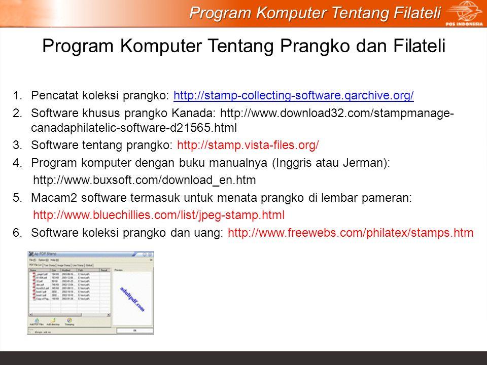 Program Komputer Tentang Prangko dan Filateli