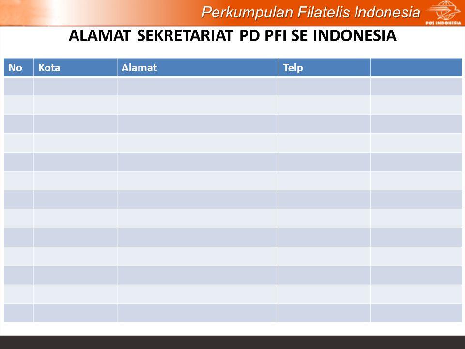 ALAMAT SEKRETARIAT PD PFI SE INDONESIA