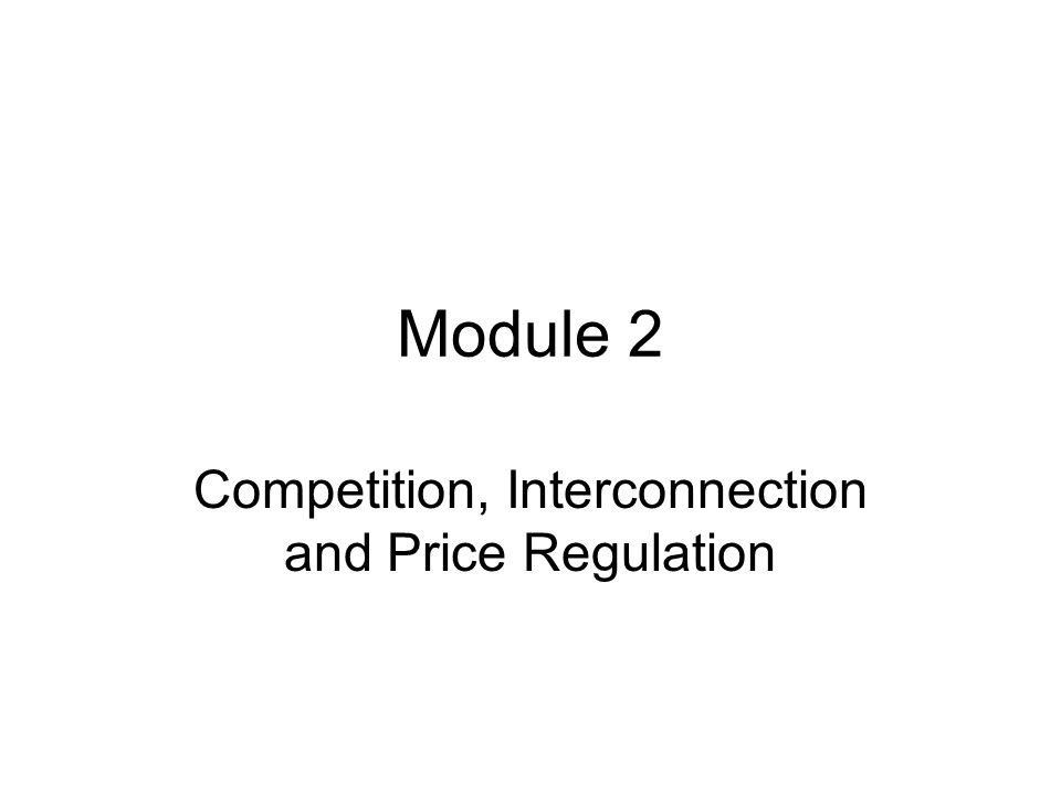 Competition, Interconnection and Price Regulation
