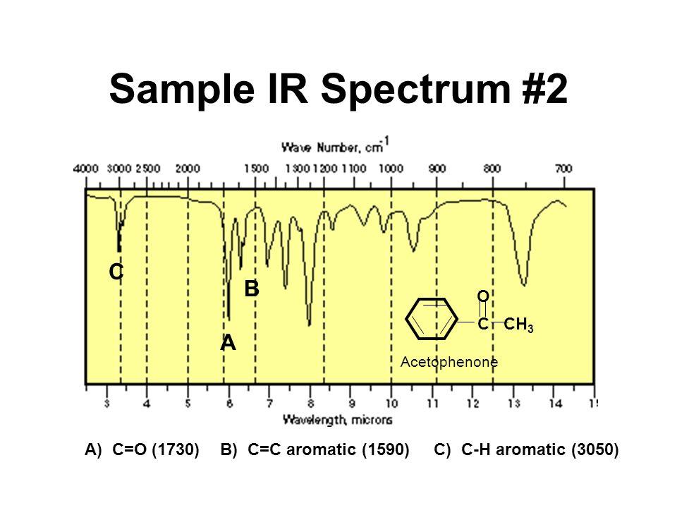 Sample IR Spectrum #2 C B A O C CH3