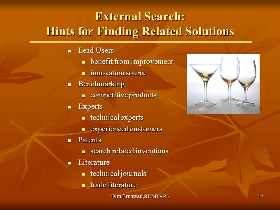 External Search: Hints for Finding Related Solutions