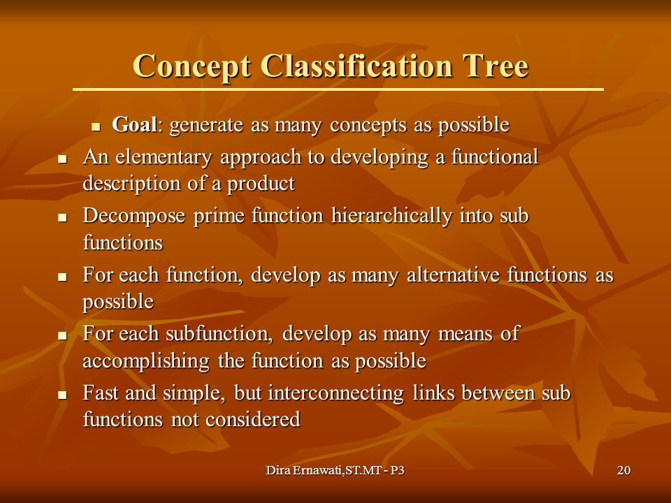 Concept Classification Tree