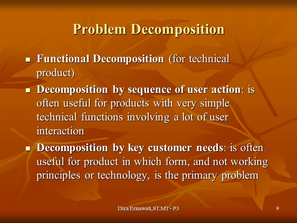 Problem Decomposition