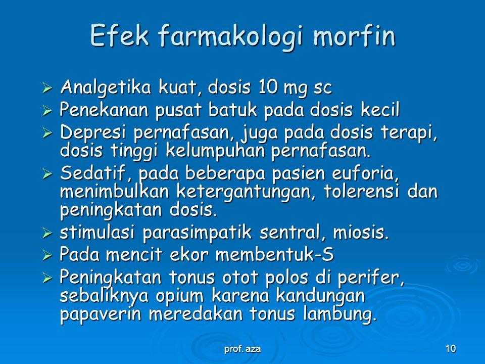 Efek farmakologi morfin