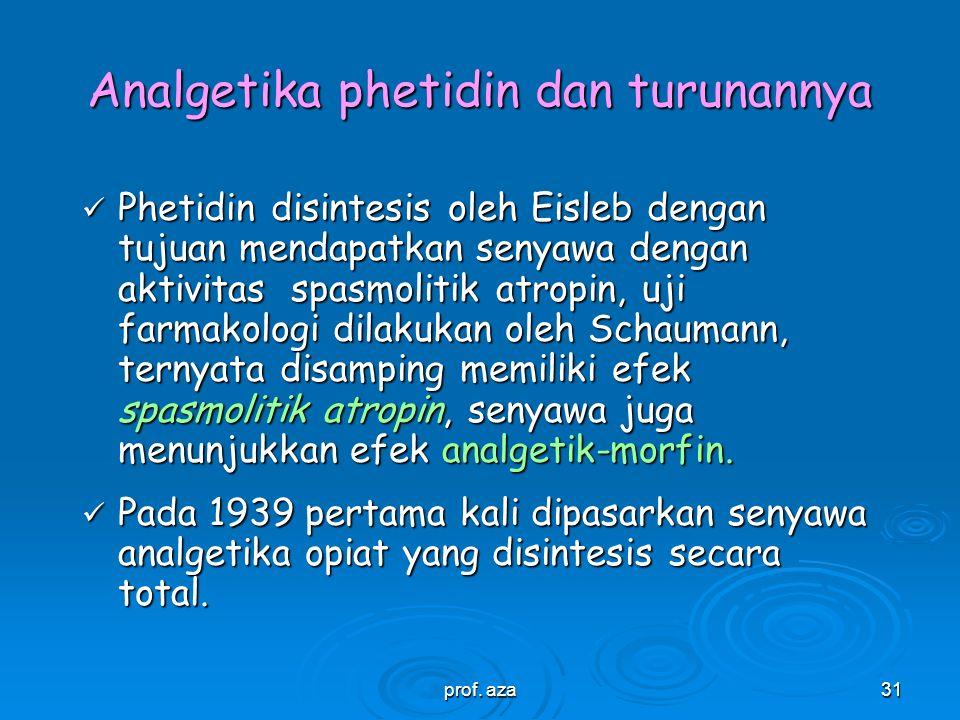 Analgetika phetidin dan turunannya