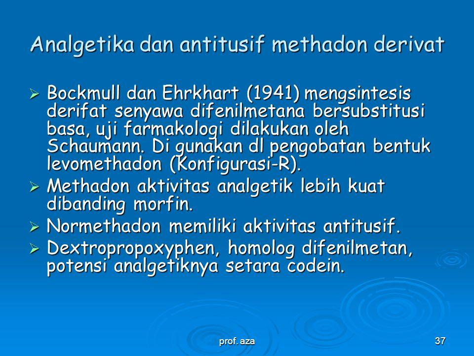 Analgetika dan antitusif methadon derivat