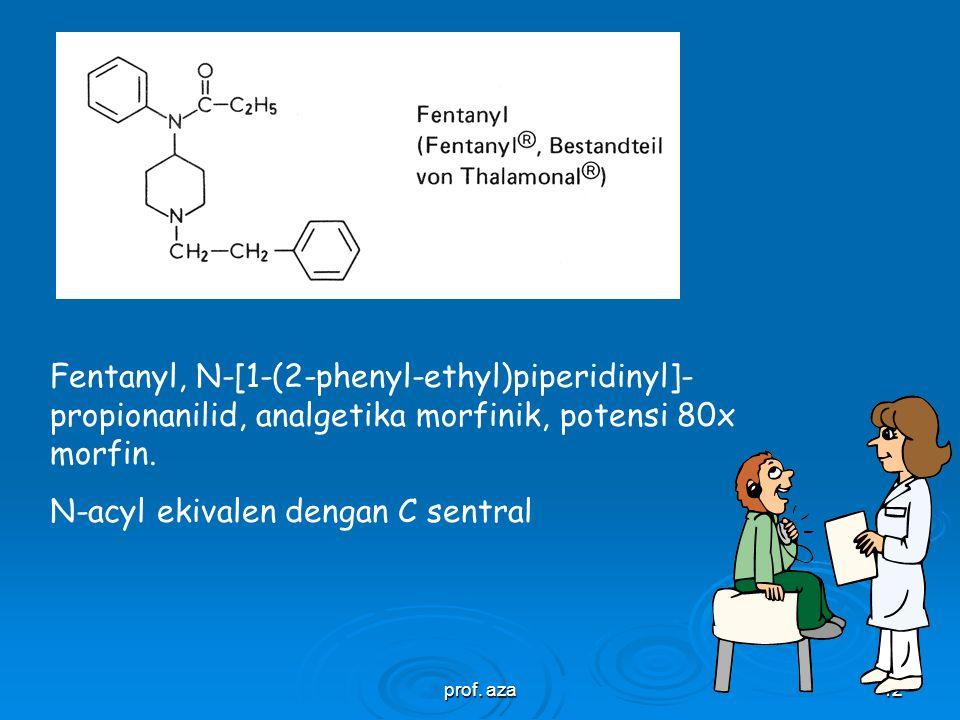 N-acyl ekivalen dengan C sentral