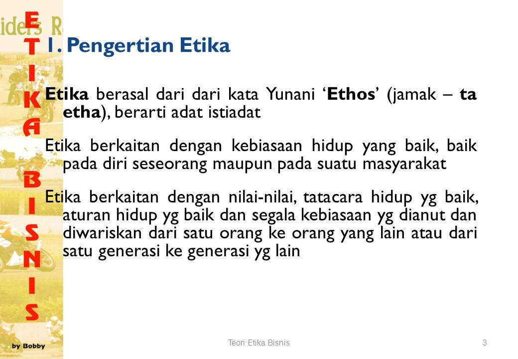 1. Pengertian Etika