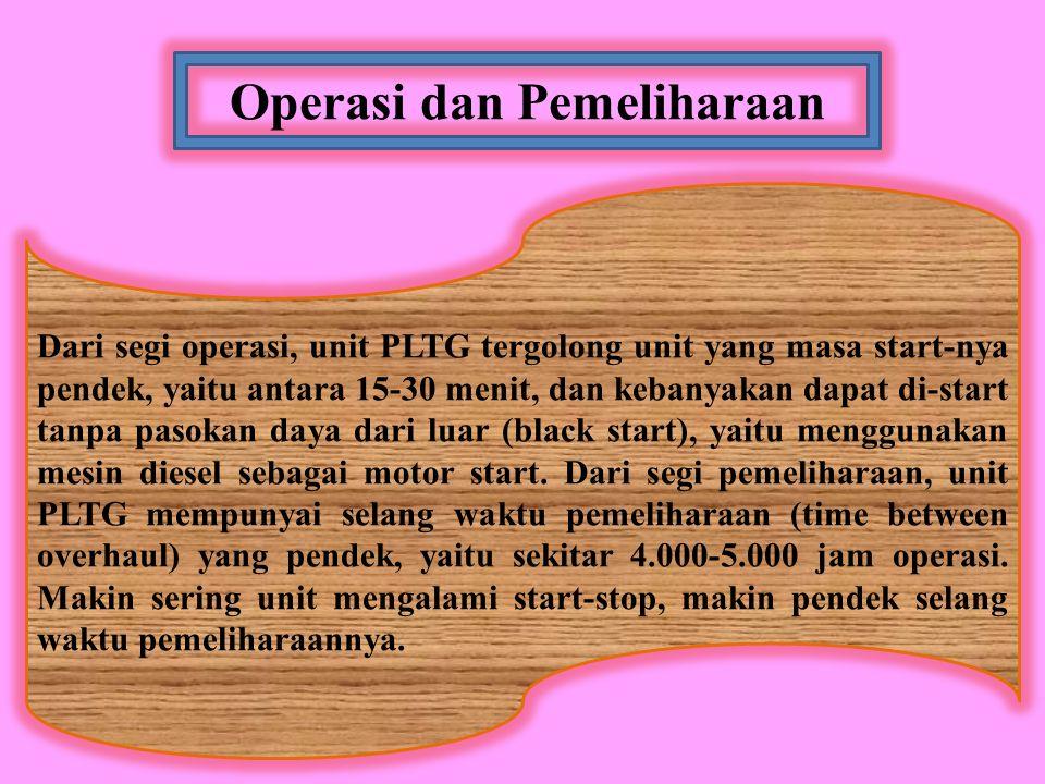 Operasi dan Pemeliharaan