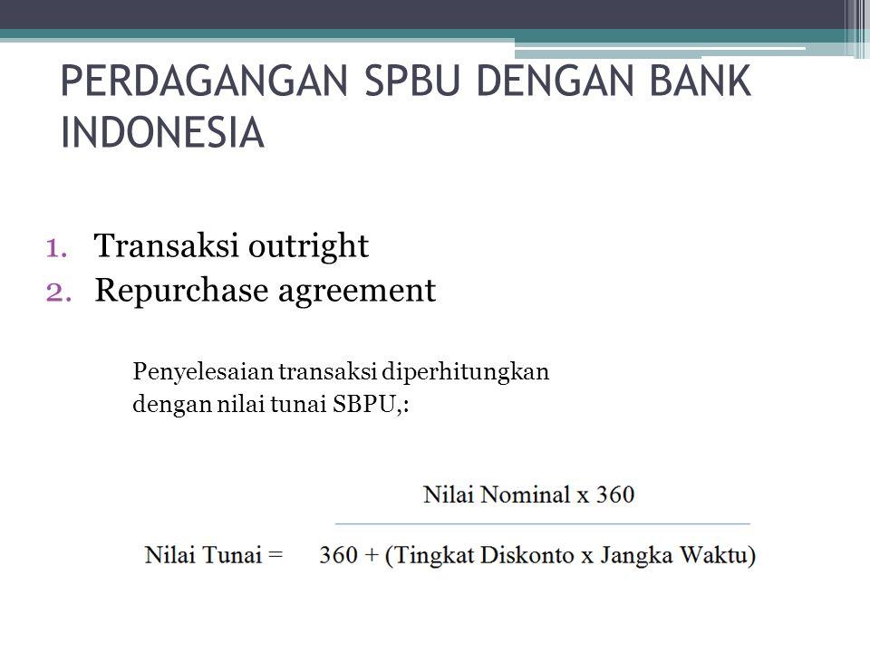 PERDAGANGAN SPBU DENGAN BANK INDONESIA