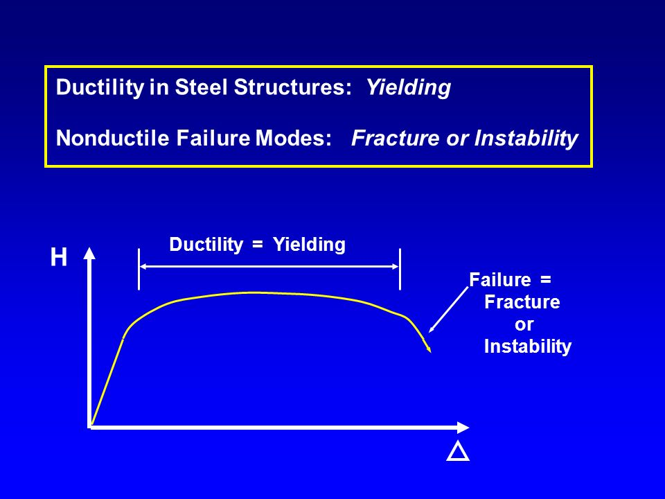 H Ductility in Steel Structures: Yielding