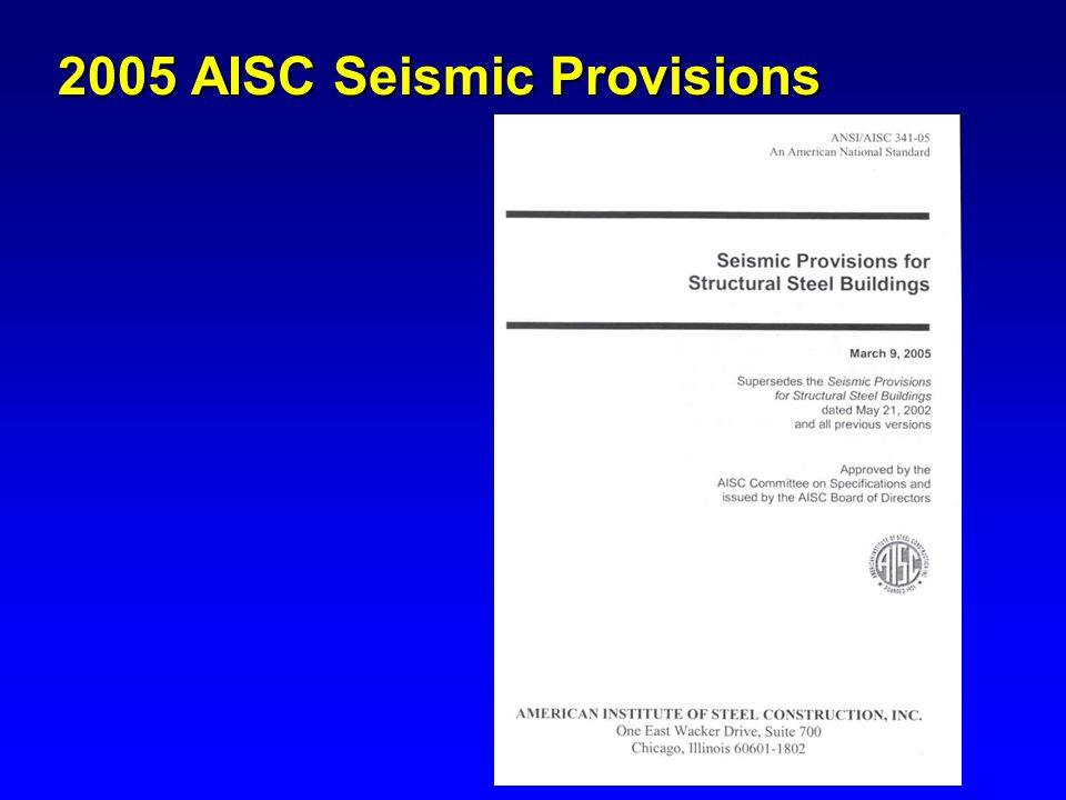 2005 AISC Seismic Provisions
