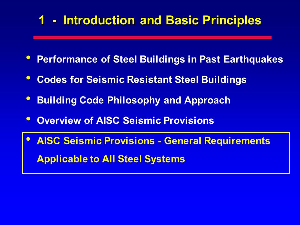 1 - Introduction and Basic Principles