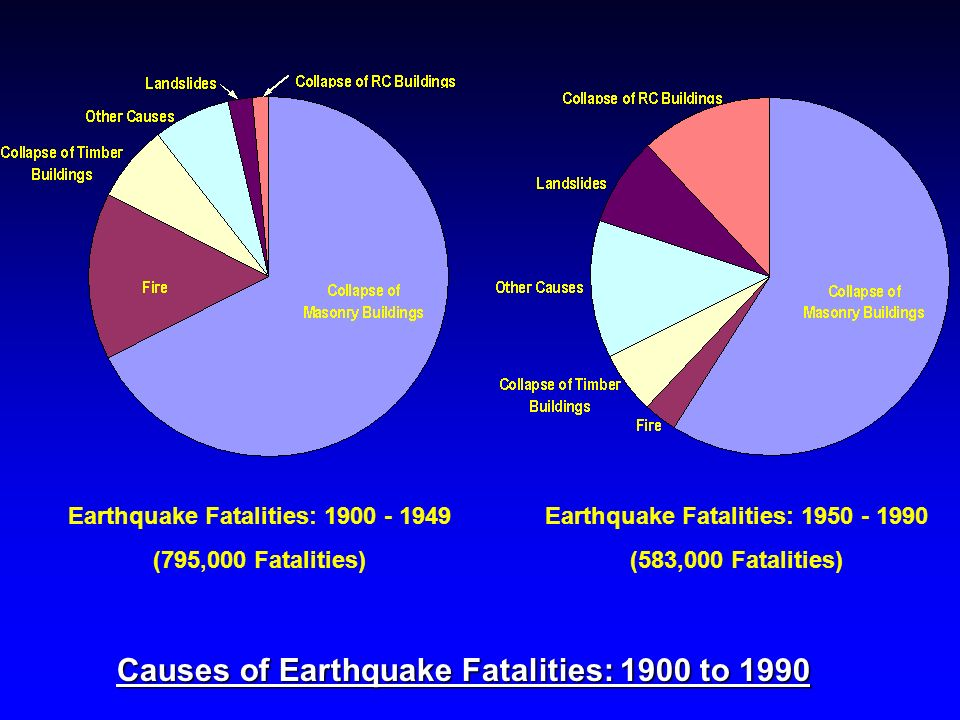 Causes of Earthquake Fatalities: 1900 to 1990
