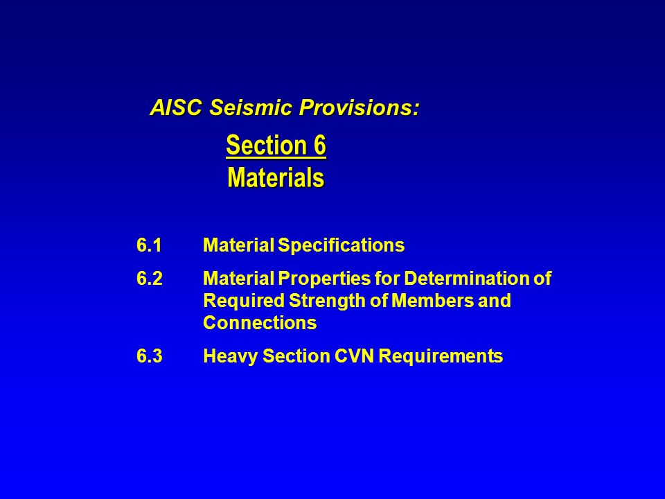 AISC Seismic Provisions: