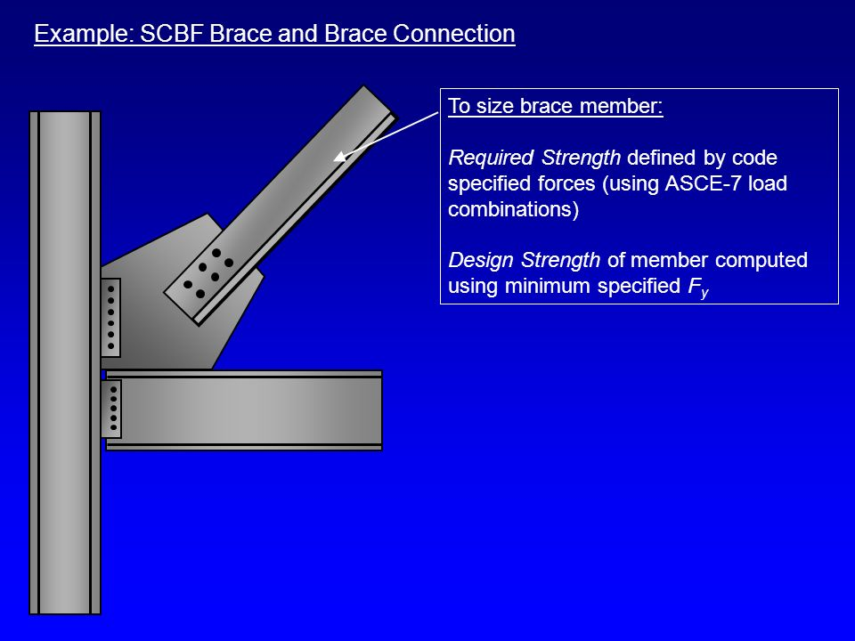 Example: SCBF Brace and Brace Connection