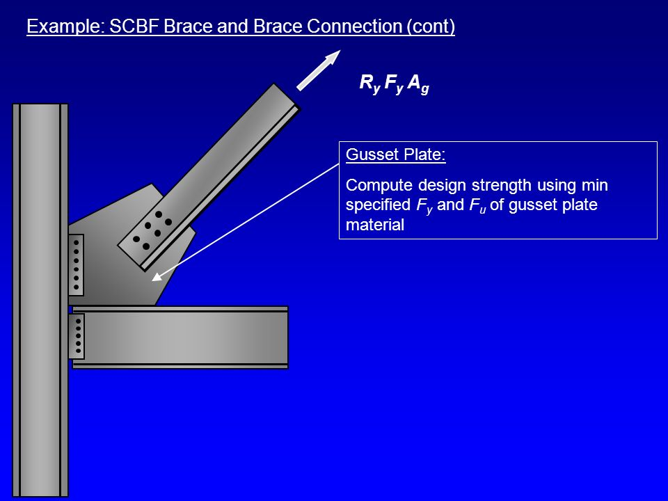 Example: SCBF Brace and Brace Connection (cont)