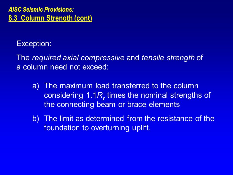 8.3 Column Strength (cont)