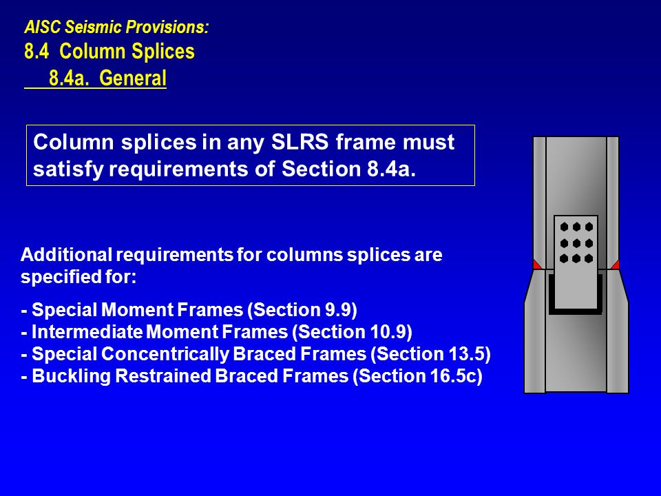 8.4 Column Splices 8.4a. General