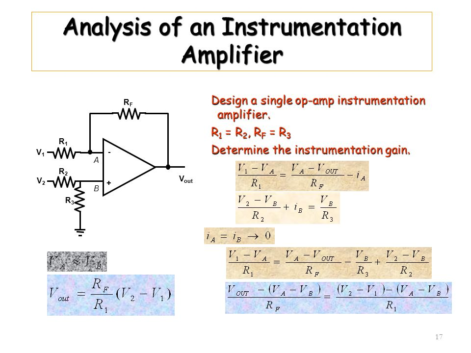 Analysis of an Instrumentation Amplifier