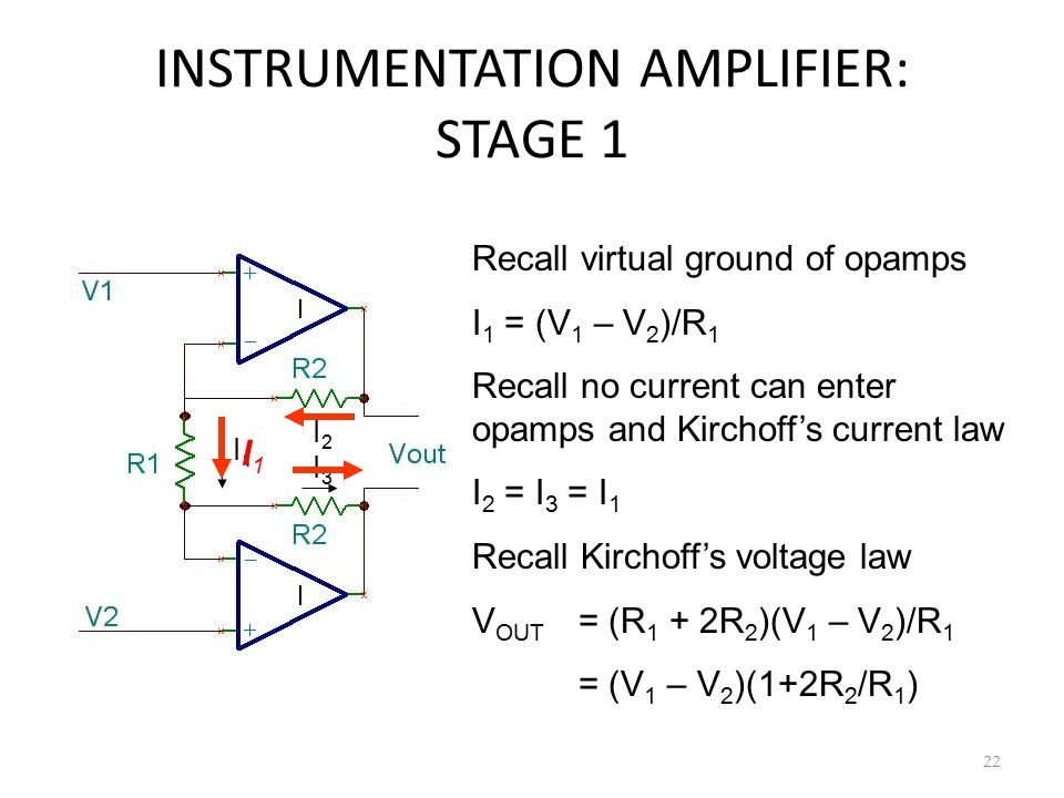 INSTRUMENTATION AMPLIFIER: STAGE 1