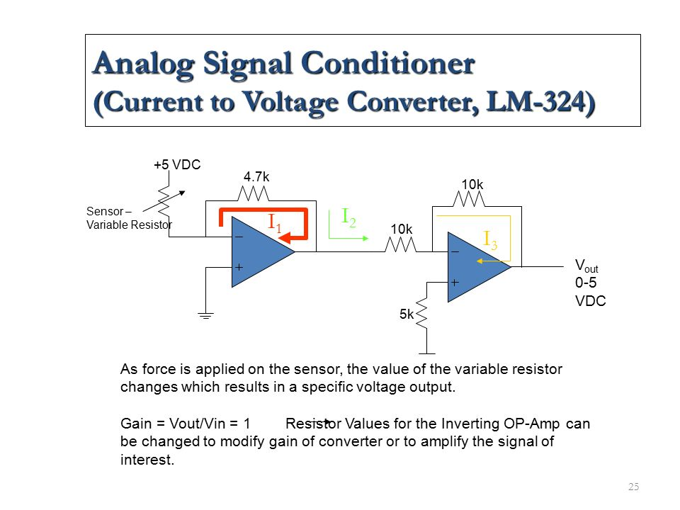 Analog Signal Conditioner (Current to Voltage Converter, LM-324)