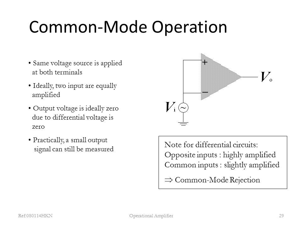 Common-Mode Operation