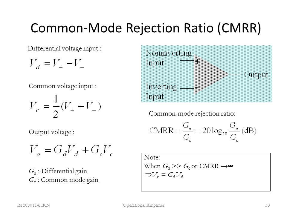 Common-Mode Rejection Ratio (CMRR)