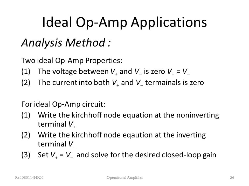 Ideal Op-Amp Applications