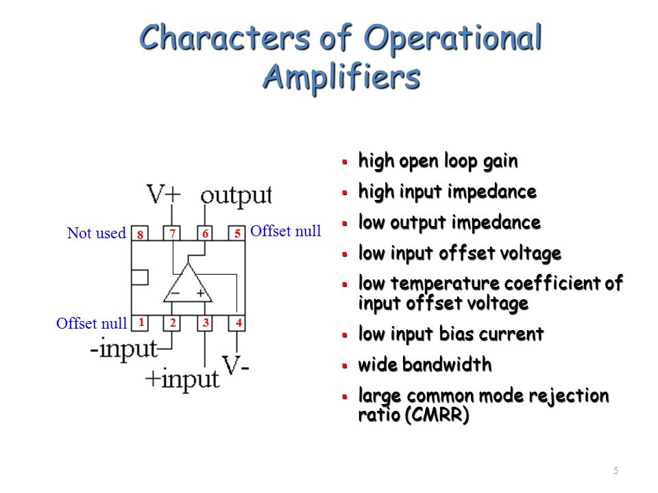 Characters of Operational Amplifiers