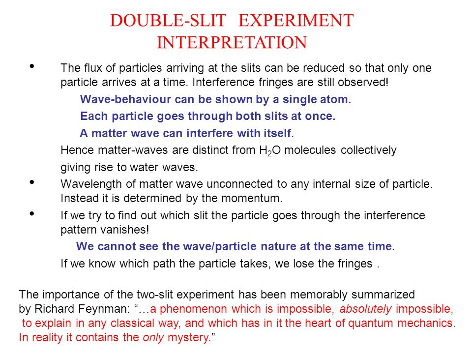 DOUBLE-SLIT EXPERIMENT