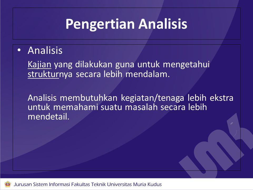 Pengertian Analisis Analisis