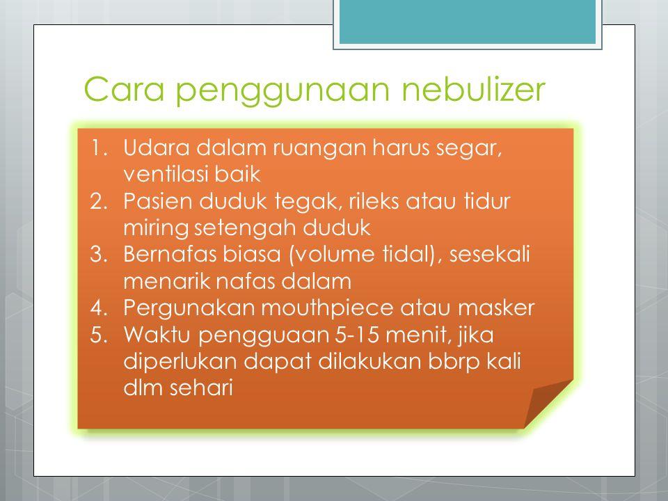 Cara penggunaan nebulizer