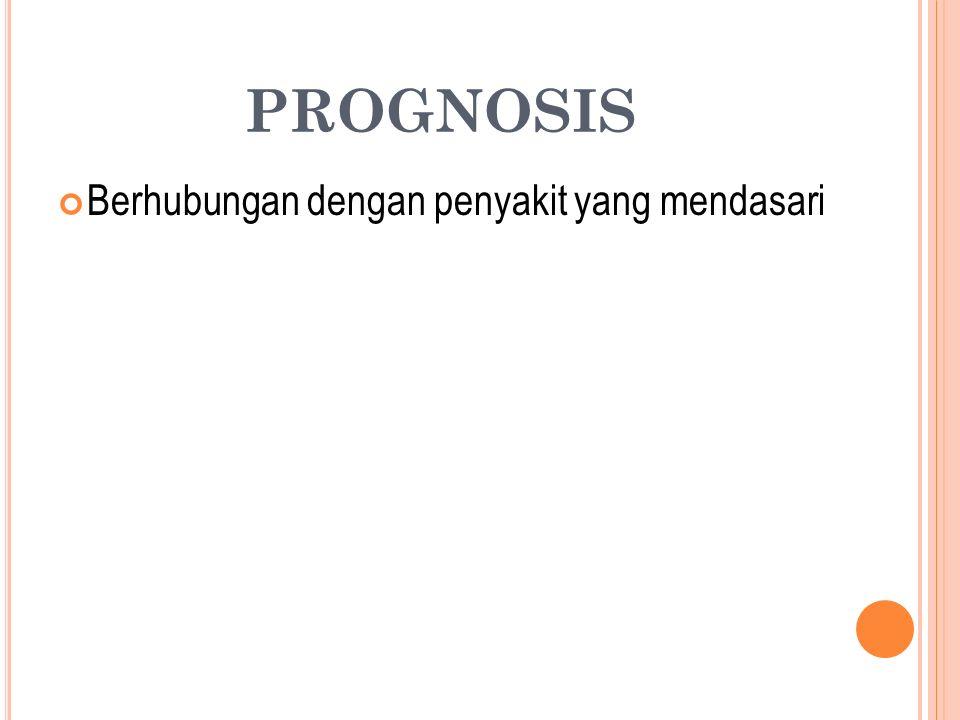 PROGNOSIS Berhubungan dengan penyakit yang mendasari