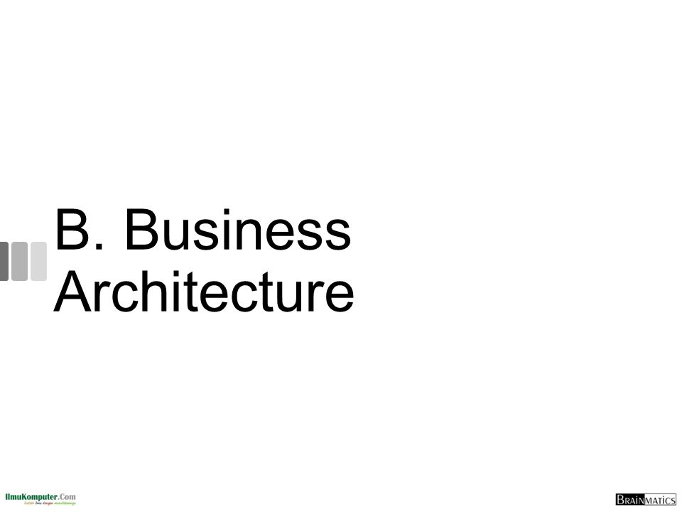B. Business Architecture