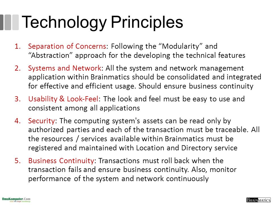 Technology Principles
