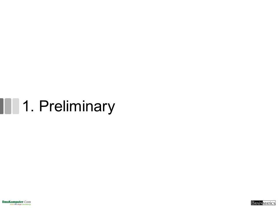 1. Preliminary