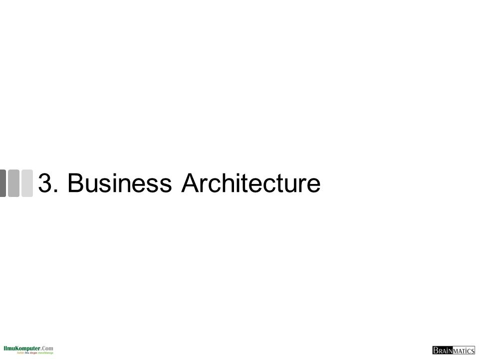 3. Business Architecture