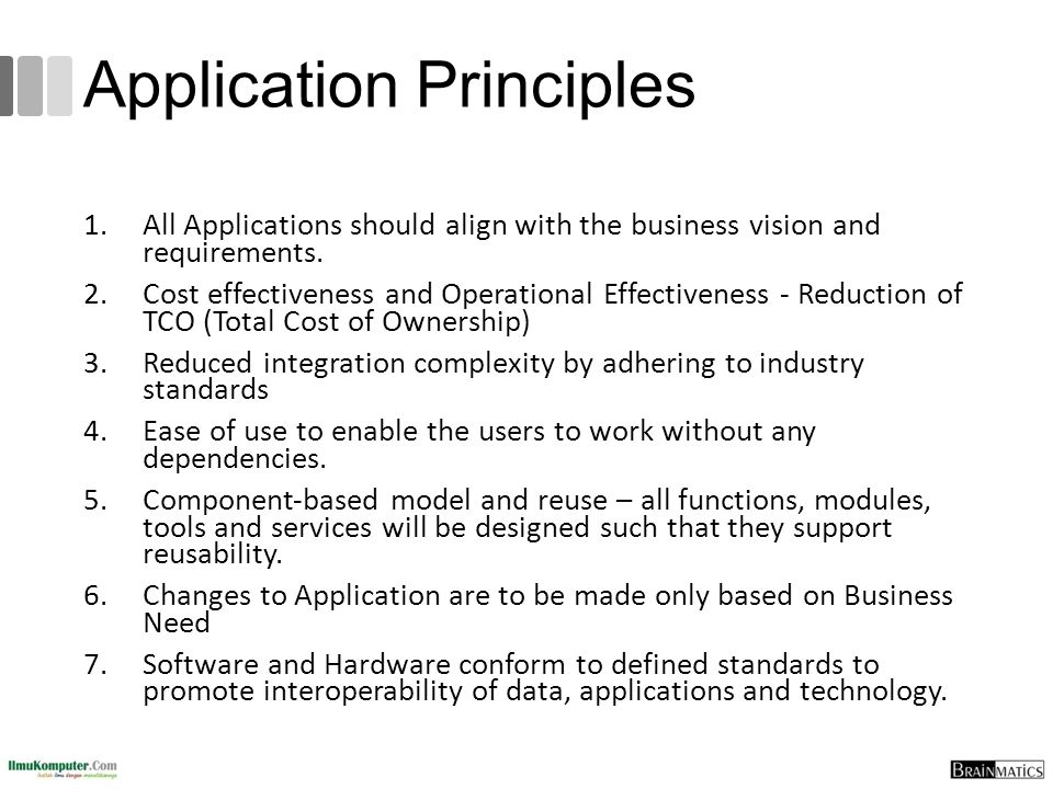 Application Principles