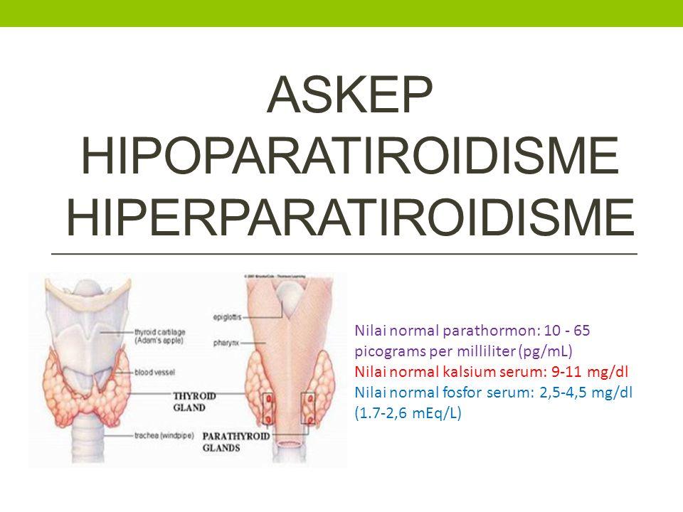 Askep hipoPARAtiroidisme hiperPARAtiroidisme