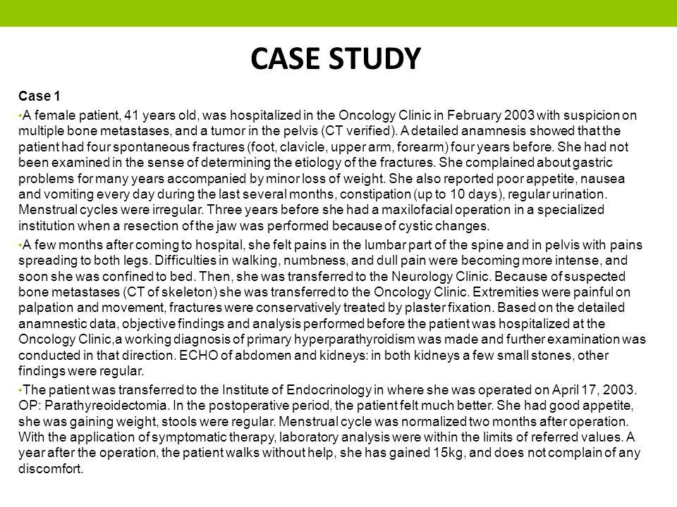 CASE STUDY Case 1.
